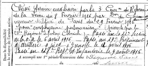 marionnet joseph marie plonevez du faou brest 14-18 Finistère Non Mort France Réformé maladie tuberculose suicide fusillé accident