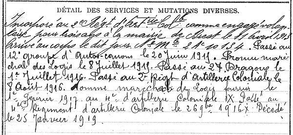 maguet yves carhaix plouguer lao kay tonkin 14-18 Finistère Non Mort France Réformé maladie tuberculose suicide fusillé accident