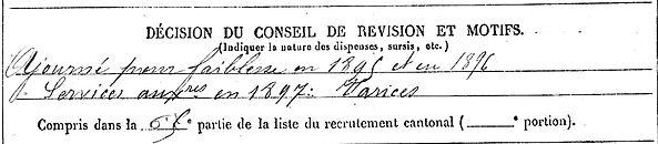 le oy rene trevoux chezy marne 14-18 Finistère Non Mort France Réformé maladie tuberculose suicide fusillé accident