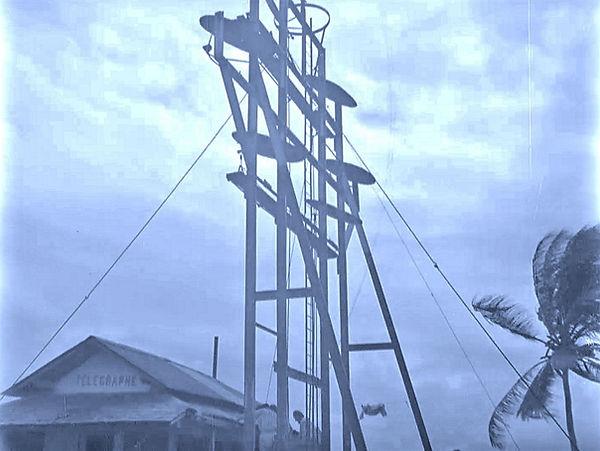 Shortwave Antenna system on Devil's Isla