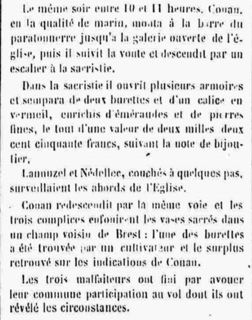 Nédélec Théophile Marie lambezellec pailler brest bagne guyane bagnard finistere