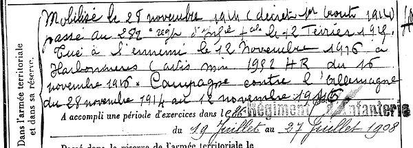 couzien corentin loqueffret harbonniere 14-18 Finistère Non Mort France Réformé maladie tuberculose suicide fusillé accident