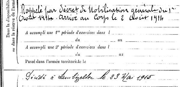 quemener pierre marie brest saint pierre quilbignon 14-18 Finistère Non Mort France Réformé maladie tuberculose suicide fusillé accident