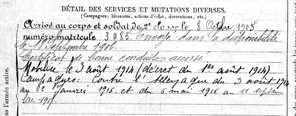 duigou jean marie saint thois 14-18 Finistère Non Mort France Réformé maladie tuberculose suicide fusillé accident