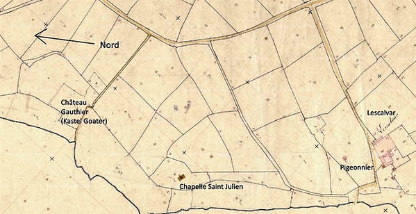 saint Julien et chateau gauthier lesven lescalvar jean jacques lelez lez plouguin patrimoine histoire patrick milan