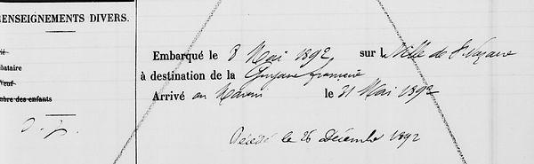 Salaun Jacques Désiré landevennec bagne guyane bagnard finistere