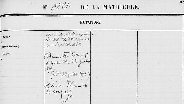 Yhuel Jean Pierre Guilligomarc'h quimperle bagne guyane bagnard
