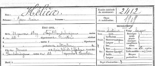 Héliès Jean Marie Hélies Servais Marie Lampaul ploudalmezeau patrick milan anne apprioual guerre 1914 1917 14 18 patrimoine histoire plouguin finistere