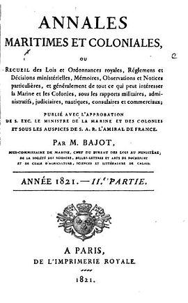 Annales Maritimes et Coloniales 1821 _01
