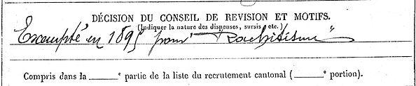 marzin heri plogastel montataire 14-18 Finistère Non Mort France Réformé maladie tuberculose suicide fusillé accident