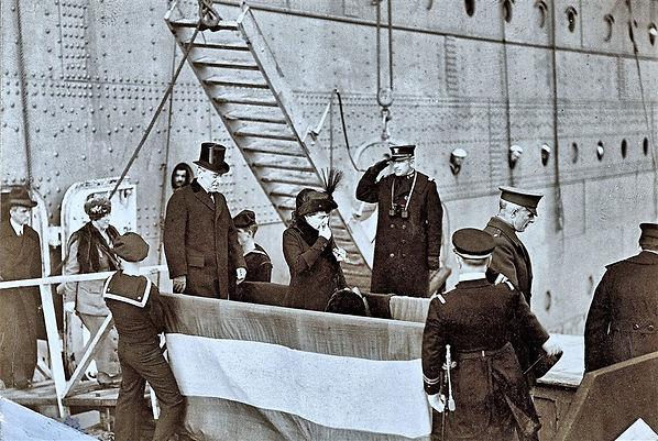 president wilson US ship WWI war guerre 14 18 1914 1918 george lane silver spring maryland patrick milan finistere brest