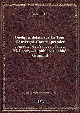 Quelques détails sur La Tour d'Auvergne,