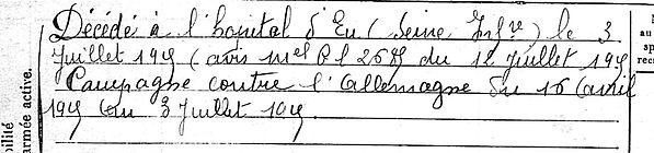 conan jean hervé langolen eu 14-18 Finistère Non Mort France Réformé maladie tuberculose suicide fusillé accident
