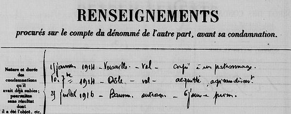 Quémener François Marie le fur poullaouen toulon bagne bagnard finistere guyane