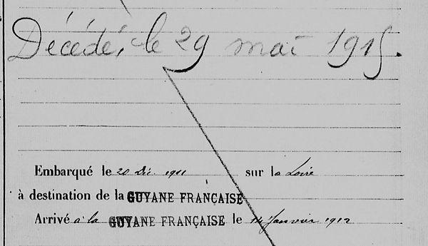 Thépault Pierre Marie quimper le pennec quasimodo corentin bagne guyane bagnard