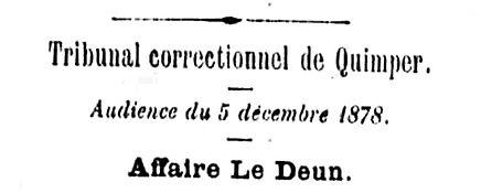 Tribunal correctionnel de Quimper _ Affa