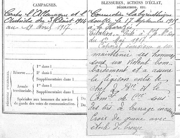 Rox Theophile Hervé Marie Lanneanou Guerre 1914 1918 14-18 Finistère Finistérien Mort pour la France Berry au Bac cote 108 Sapigneul Choléra Moscou Mauchamp