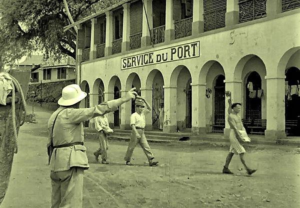 Service du Port building on Devil's Isla