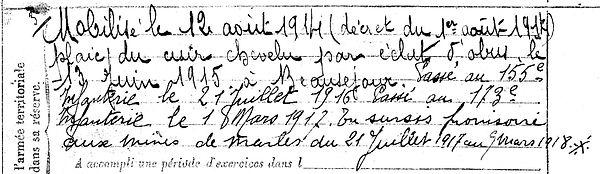 le mat pierre joseph marie yves tregunc saint pol sur ternoise mines marles 14-18 Finistère Non Mort France Réformé maladie tuberculose suicide fusillé accident