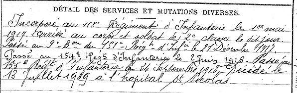 mel françois saint jean du doigt verdun 14-18 Finistère Non Mort France Réformé maladie tuberculose suicide fusillé accident