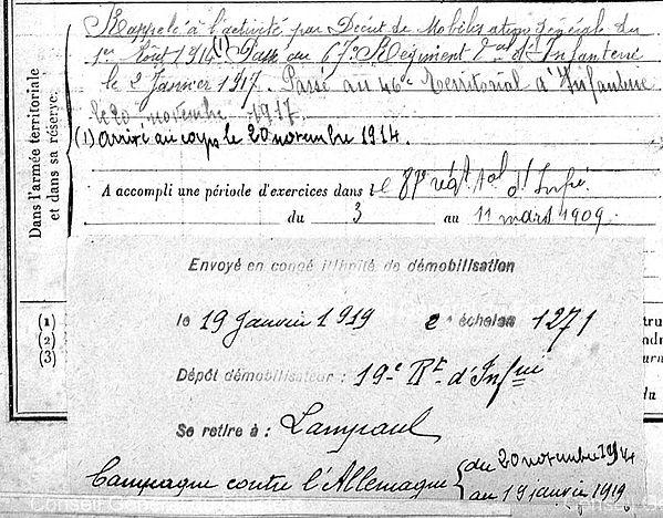 Forest Yves Marie Lampaul ploudalmezeau patrick milan anne appriou guerre 1914 1917 14 18 patrimoine histoire plouguin finistere