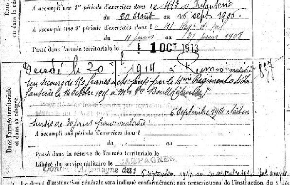colder jean marie plouguer carhaix rennes 14-18 Finistère Non Mort France Réformé maladie tuberculose suicide fusillé accident
