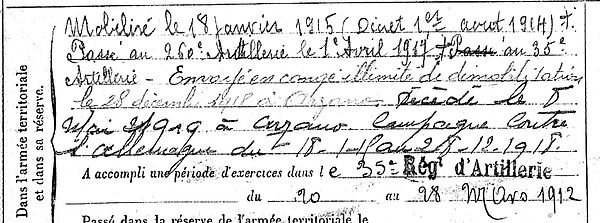 montfort joseph marie arzano 14-18 Finistère Non Mort France Réformé maladie tuberculose suicide fusillé accident