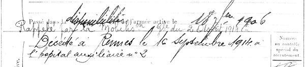 leost goulven ploudaniel rennes 14-18 Finistère Non Mort France Réformé maladie tuberculose suicide fusillé accident