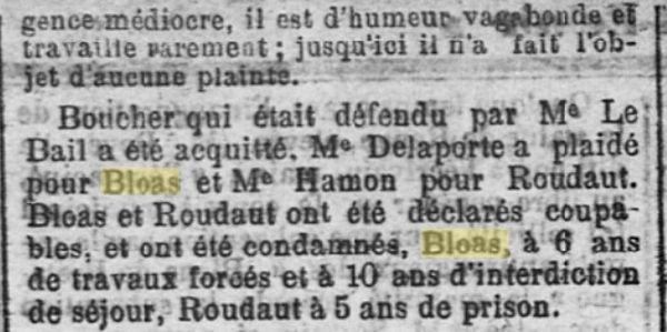 Bloas Jean Pierre lambezellec pontanezen brest roudaut boucher bagne guyane bagnrd finistere notaire