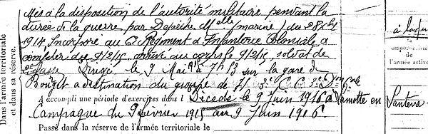 bernard françois marie carantec lamotte santerre 14-18 Finistère Non Mort France Réformé maladie tuberculose suicide fusillé accident