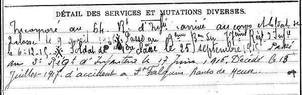 jourdren françois pierre marie saint seve folquin aa pas de calais 14-18 Finistère Non Mort France Réformé maladie tuberculose suicide fusillé accident
