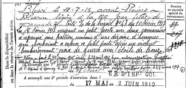 quere henri rene tourch reims epernay bussag remiremont saint yvi 14-18 Finistère Non Mort France Réformé maladie tuberculose suicide fusillé accident