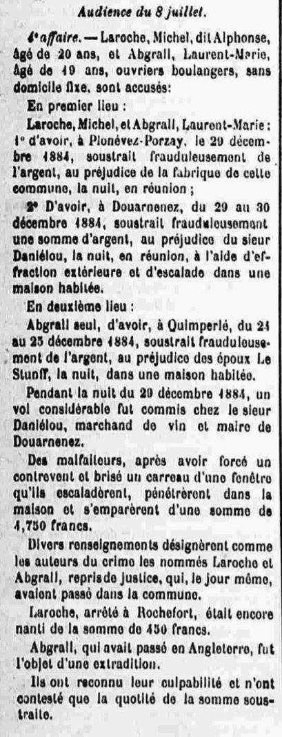 Abgrall Laurent Marie landivisiau manach bage guyane cayenne bagnard