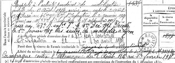 gourmelon jean marie plouzane lyon 14-18 Finistère Non Mort France Réformé maladie tuberculose suicide fusillé accident