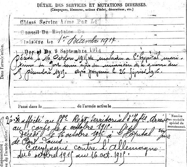 corcuff jacquesmarie ploneour lanvern port louis 14-18 Finistère Non Mort France Réformé maladie tuberculose suicide fusillé accident