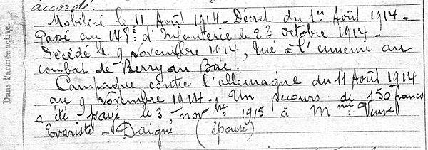 Evariste Jean Dominique Châteaulin Guerre 1914 1918 14-18 Finistère Finistérien Mort pour la France Berry au Bac cote 108 Sapigneul Choléra Moscou Mauchamp