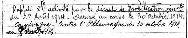 abbé campion guillaume marie pont labbe vannes 14-18 Finistère Non Mort France Réformé maladie tuberculose suicide fusillé accident