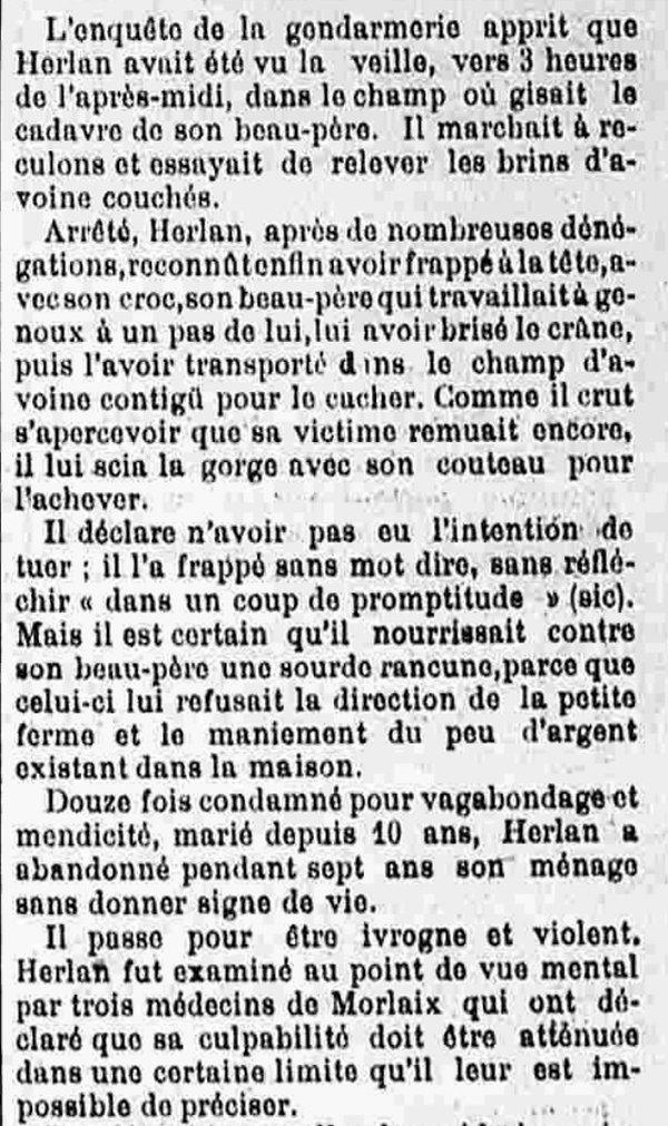 Herlan François Marie saint thegonnec jaouen bizien bagne guyane bagnard finistere