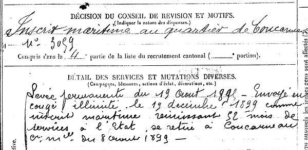 rigous marc tregunc brest lambezellec 14-18 Finistère Non Mort France Réformé maladie tuberculose suicide fusillé accident