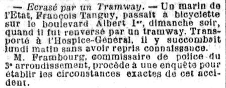 tanguy françois moelan havre 14-18 Finistère Non Mort France Réformé maladie tuberculose suicide fusillé accident tramway chalutier saint andre