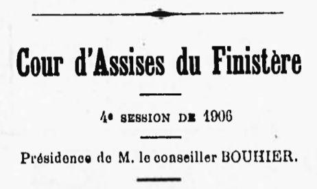 Poulicard Pierre Louis kergloff landeleau bouriquin bagne travaux forces  guyane bagnard finistere
