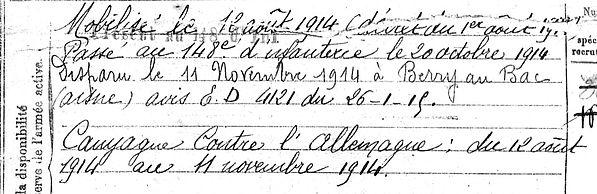 BosserAlain Plzévet Guerre 1914 1918 14-18 Finistère Finistérien Mort pour la France Berry au Bac cote 108 Sapigneul Choléra Moscou Mauchamp