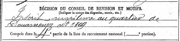 julien guillaume marie plouhinec ploare 14-18 Finistère Non Mort France Réformé maladie tuberculose suicide fusillé accident