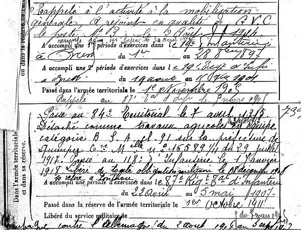 lemee philippe jean françois le ponthou quimper 14-18 Finistère Non Mort France Réformé maladie tuberculose suicide fusillé accident