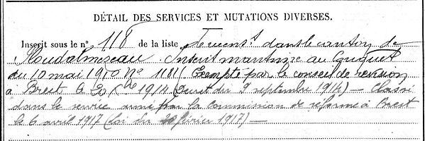Diserbo Michel Lampaul ploudalmezeau patrick milan anne appriou guerre 1914 1917 14 18 patrimoine histoire plouguin finistere