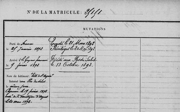 Yvinec Pierre quimerch gouezec assassinat bagne guyane riou brenner bagnard