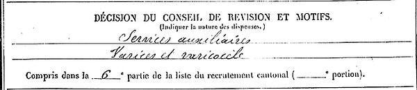 gourlay jean louis scaer sainte anne auray 14-18 Finistère Non Mort France Réformé maladie tuberculose suicide fusillé accident