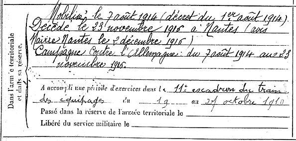 canevet yves plonevez porzay 14-18 Finistère Non Mort France Réformé maladie tuberculose suicide fusillé accident