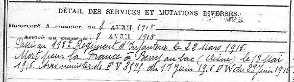 Seznec Corentin Joseph René Ergué Armel Guerre 1914 1918 14-18 Finistère Finistérien Mort pour la France Berry au Bac cote 108 Sapigneul Choléra Moscou Mauchamp