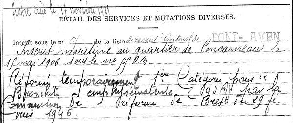 sellin jean marie riec sur belon huelgoat 14-18 Finistère Non Mort France Réformé maladie tuberculose suicide fusillé accident